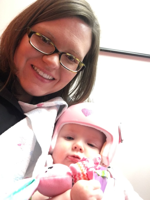 Maddie and mommy after the good news