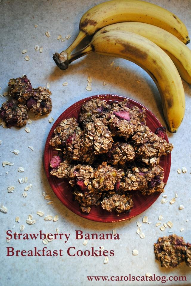 Strawberry Banana Breakfast Cookies