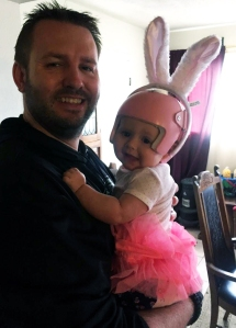 Maddie and daddy Easter plagiocephaly