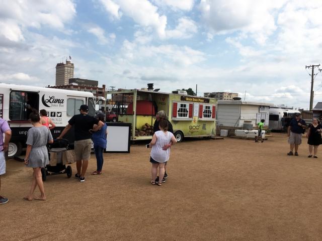 Food trucks at Magnolia Market from HGTV Fixer Upper